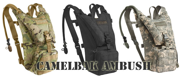 Camelbak Ambush Hydration Backpack in Camo and Black