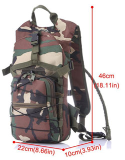 Dimensions of Camo Hydration Pack