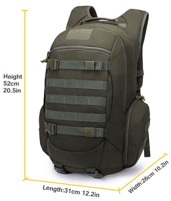 Dimensions of Mardingtop Tactical Backpack