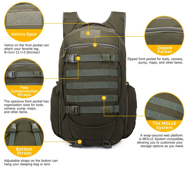 Mardingtop Tactical Backpack Features