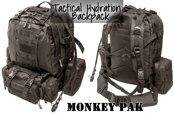 Monkey Paks Tactical Hydration Backpack